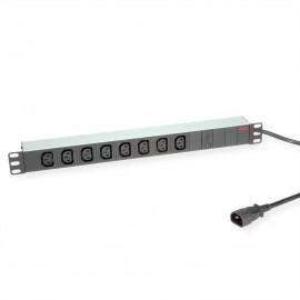 """19"""" PDU med 8 C13 udtag - med ledning"""